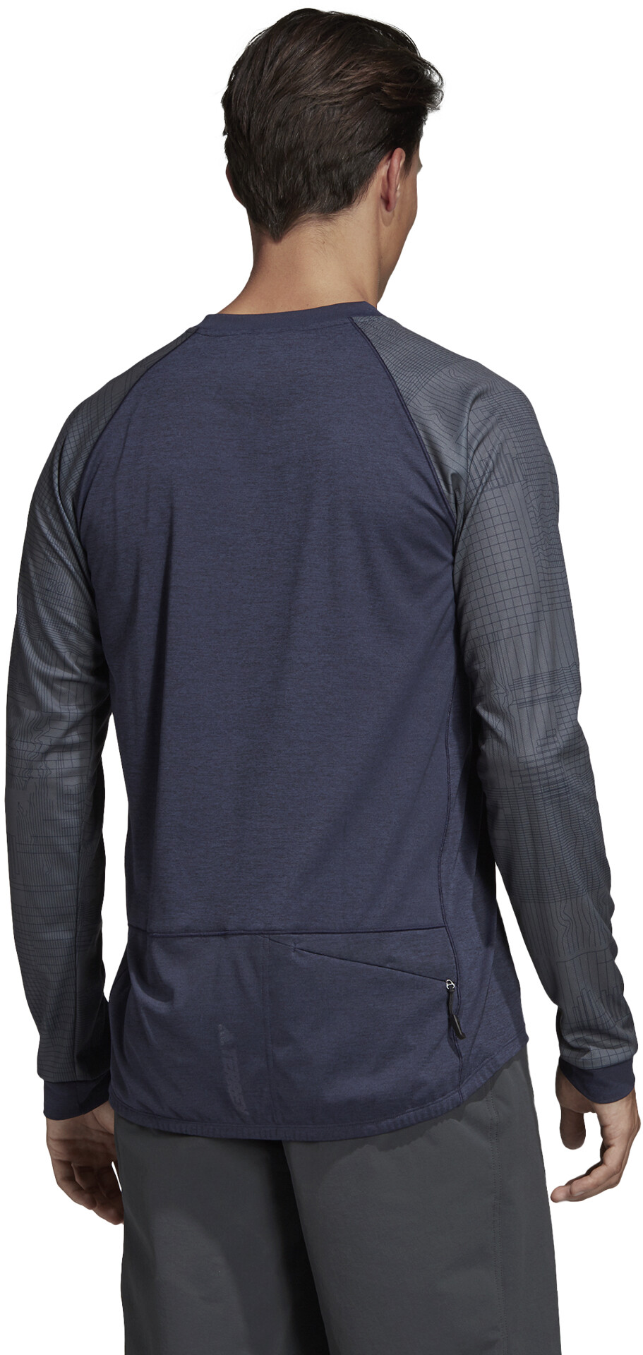 adidas TERREX Trail Cross Langærmet T shirt Herrer, legend inkblack